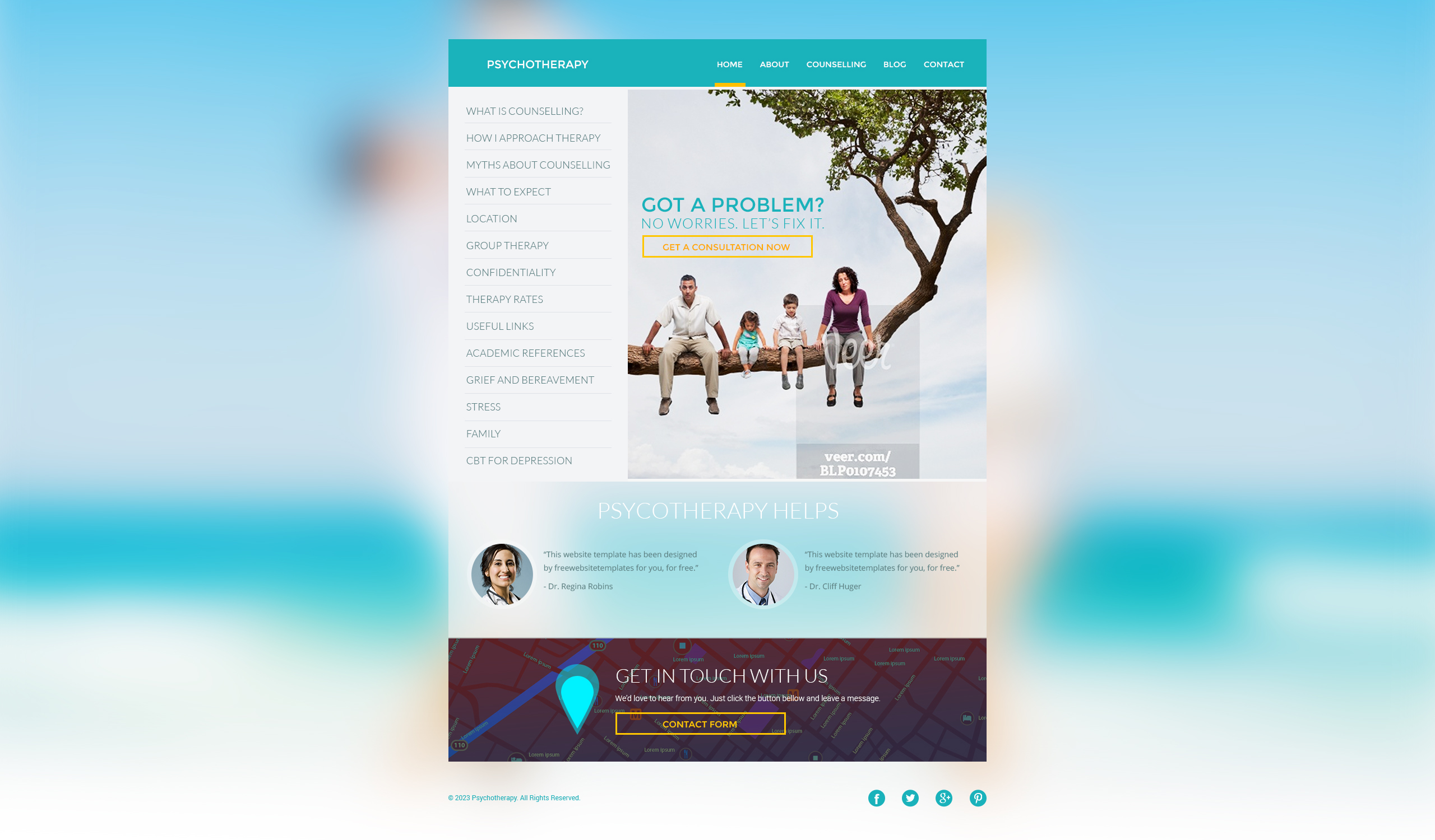 Designing - Psychotherapy website please   Free Website Templates