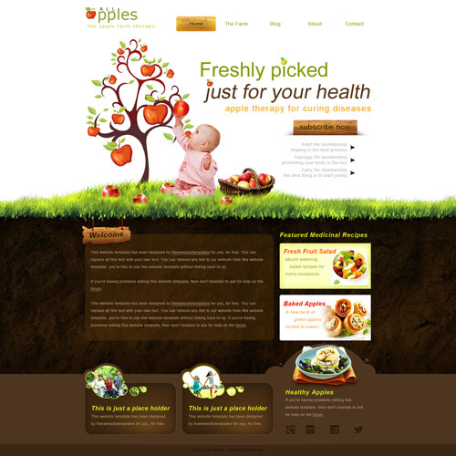 Apple Farm Website Template Free Website Templates pV4asg1N