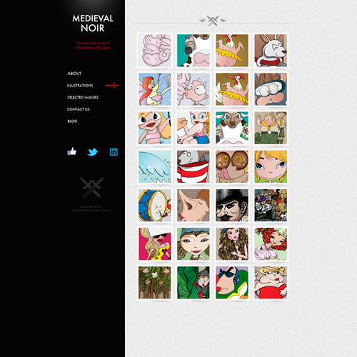 Artist website templates vector artist website template for Top websites for artists