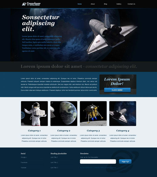 astronomy website template free website templates. Black Bedroom Furniture Sets. Home Design Ideas
