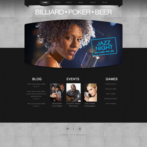 Ready   Bar Website Template Free Website Templates NlNfGRJn