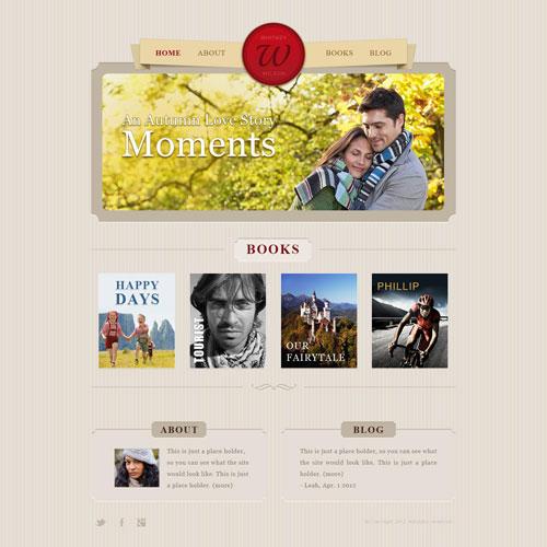 Ready - Book Author Portfolio Web Template | Free Website Templates: freewebsitetemplates.com/forums/threads/book-author-portfolio-web...