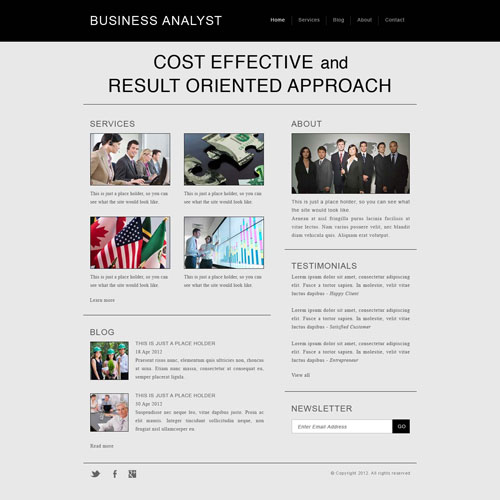 Business analyst website template free website templates todays new template is a business analyst website template good for any corporate business flashek Images