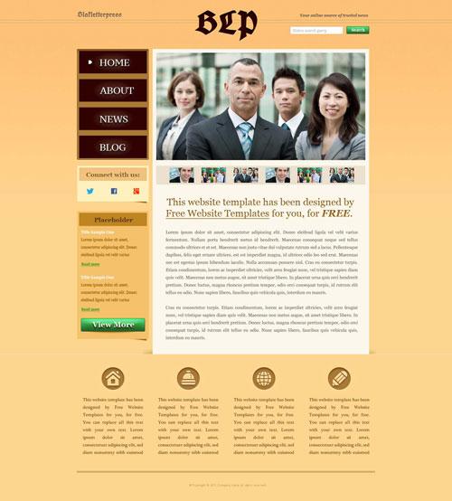 Business News Web Template Free Website Templates