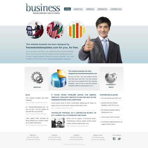 Business world website template free website templates business world website template wajeb Gallery