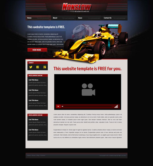 car racing website template free website templates. Black Bedroom Furniture Sets. Home Design Ideas