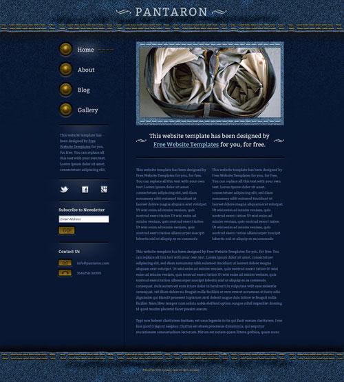 Denim Jeans Website Template | Free Website Templates