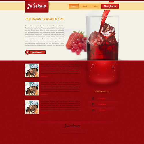 juice website template free website templates. Black Bedroom Furniture Sets. Home Design Ideas