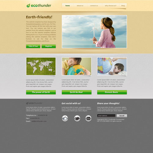 ecological website template free website templates