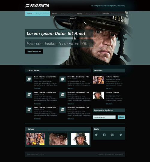 firefighter website template free website templates. Black Bedroom Furniture Sets. Home Design Ideas