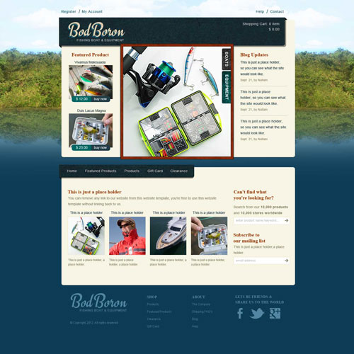 Ready   Fishing Website Template Free Website Templates aTAJ1y66