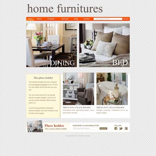 furniture shop website template free website templates