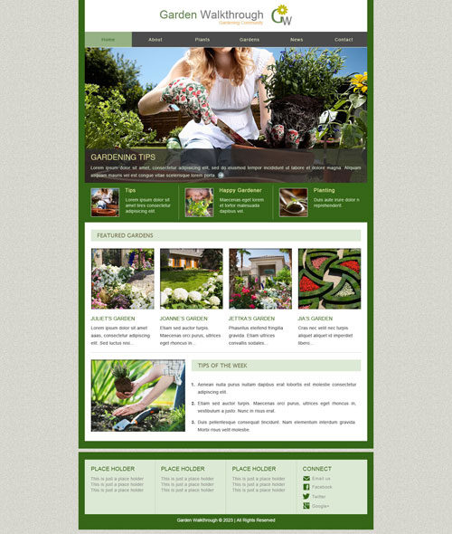 Mary Mary Quite Contrary How Does Your Garden Grow It Isn T Quite As Beautiful As This Gardening Website Template We Ll Bet