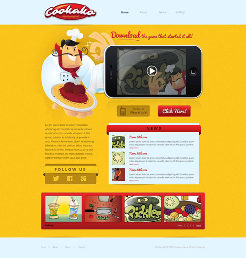 IPhone Game Website Template Free Website Templates - Information website template