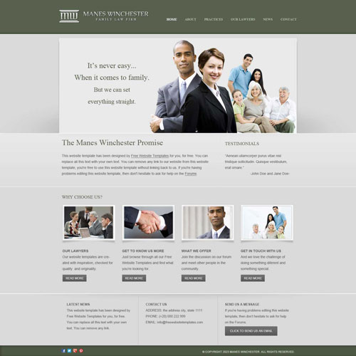 Law firm website template free website templates want to impress potential clients if its respectability and dependability youre looking to convey this smart no nonsense business website template will wajeb Images