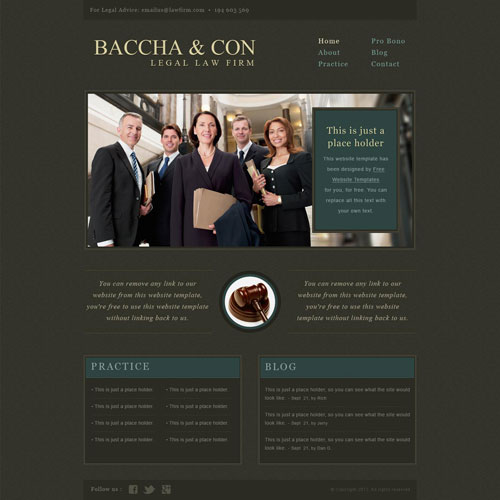 a website template for law
