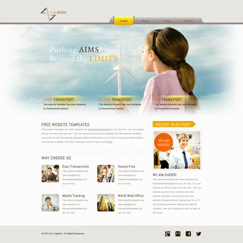 Logistics Website Template | Free Website Templates