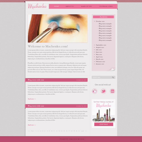 Makeup Website Template IMG
