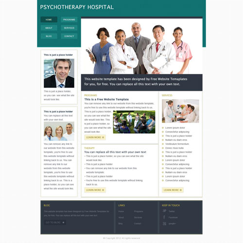 medical hospital website template free website templates. Black Bedroom Furniture Sets. Home Design Ideas