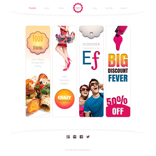 Moru mall shopping website template free website templates for Websites for online shoping