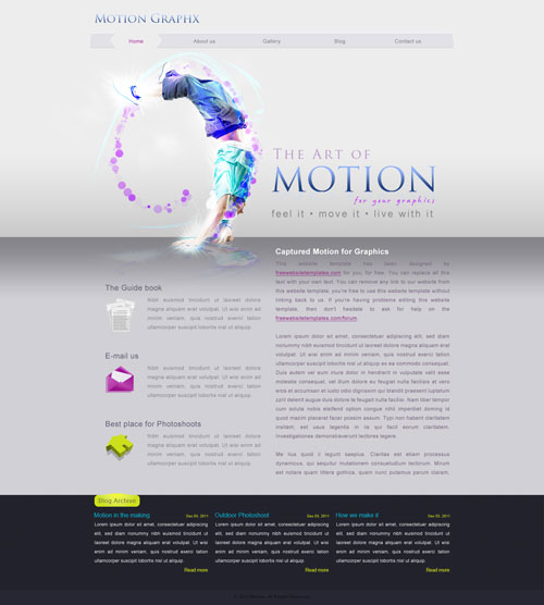motion website template free website templates. Black Bedroom Furniture Sets. Home Design Ideas