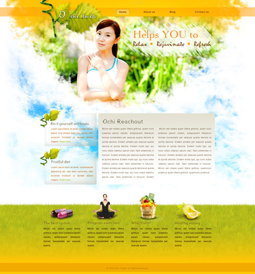 Natural Health Web Template Free Website Templates