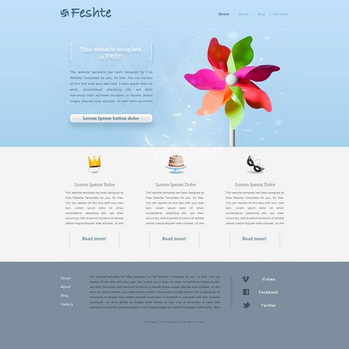 Party Website Template | Free Website Templates