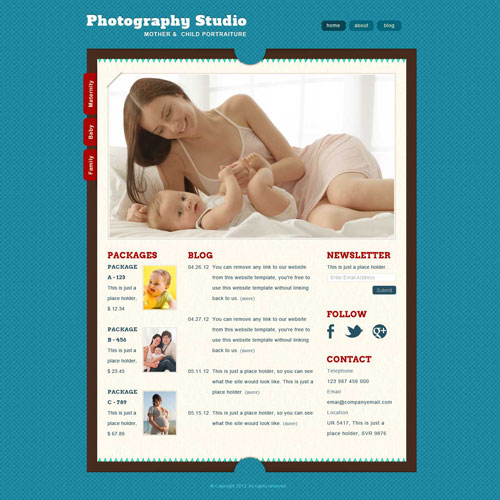 Ready   Photography Website Template Free Website Templates nTMToqSW