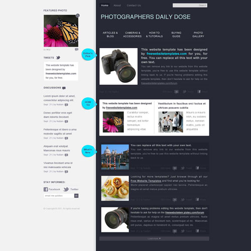 Ready   Photography Web Template Free Website Templates SNp0U01C