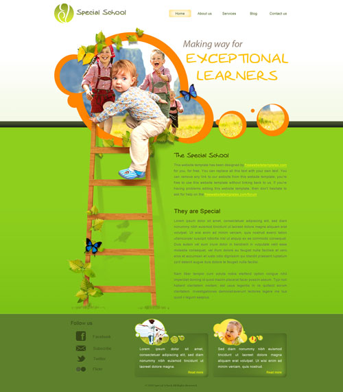 Special School Web Template  Free Website Templates