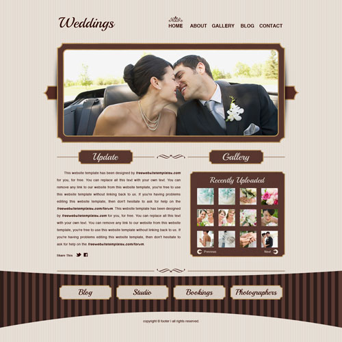 Ready - Weddings Website Template