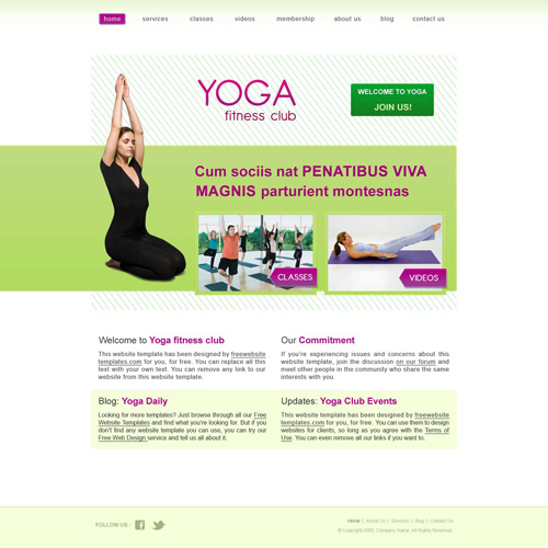 Ready Yoga Website Template Free Website Templates