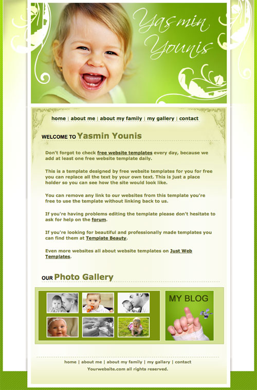 Baby template Free Website Templates 4fSlJWhO