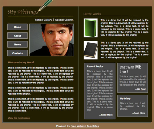 Ready   Book author template Free Website Templates 6JgU3SIp