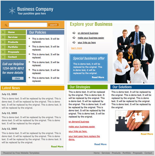 Business web template free website templates the website template will work perfectly with all modern browsers tested with wajeb Image collections
