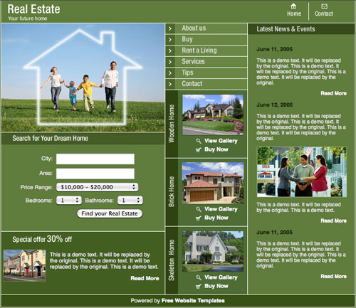 Real Estate Template Free Website Templates 50owbdHd