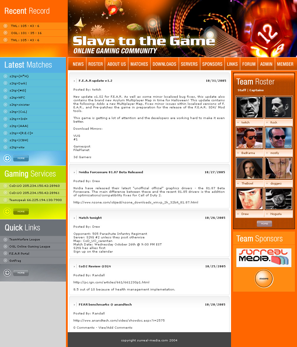 Closed Website Template For A Call Of Duty Clan Free Website - Clan website templates