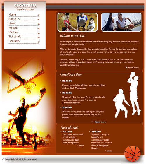 basketball photo templates