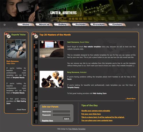 movie company template free website templates