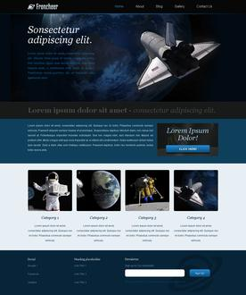 Astronomy Web Template