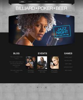 Bar Website Template