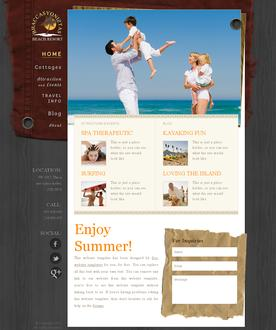 Beach Resort Web Template
