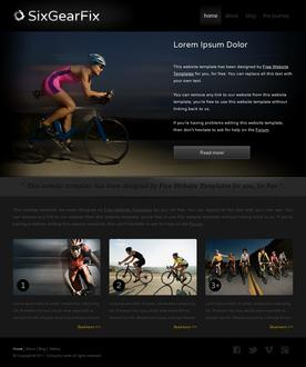 Bike Gear Website Template