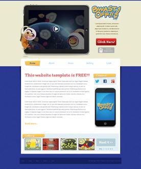 Cartoon Apps Web Template