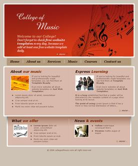 College music template