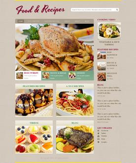 Cooking Recipe Web Template