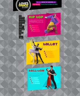 Dance Studio Web Template