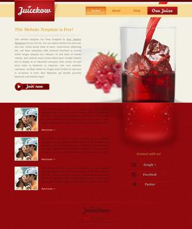 Drinking Juice Web Template