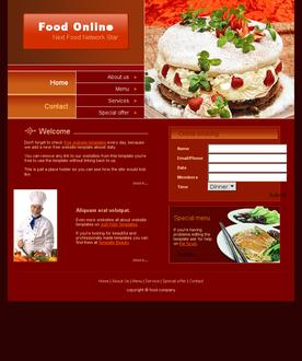 Food online template