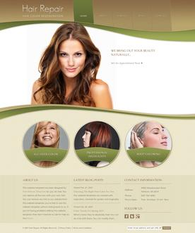 Hair Repair Website Template